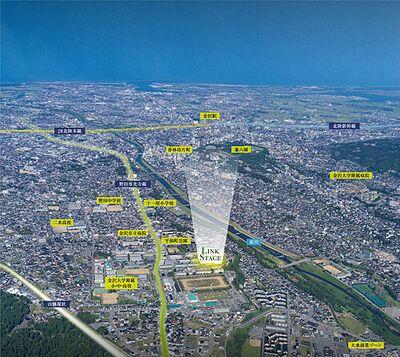 金沢市平和町LINK STAGE 県内有数の文教地区。大桑ショッピングセンター、山側環状へのアクセスも良い注目のエリアです。