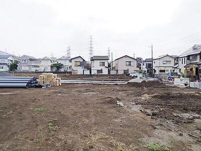 川越市 むさし野 全20区画 5区画 只今造成中、これから基礎工事始まります