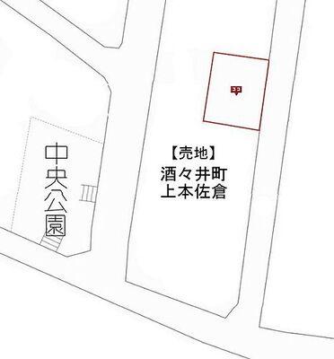 売地・酒々井町上本佐倉1丁目 配置図