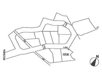 根府川第2期 建築条件無し売地  2区画 区画図です。