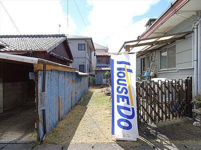 津島市柳原町 事業用地 駅やスーパーに近く、生活便利な立地。中古戸建としての販売も対応いたします。(2018年3月22日撮影)