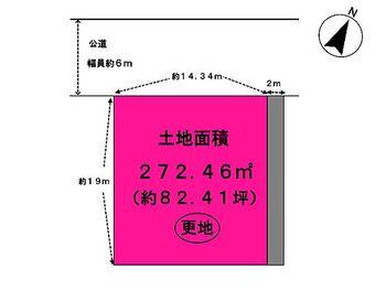 木津川市相楽台5丁目 売り土地 地形図