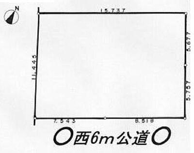 松戸市新松戸6丁目 土地 181.83平米(約55坪)