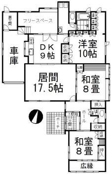 花園町 1765万円 1765万円、3LDK+S、土地面積369m<sup>2</sup>、建物面積171.72m<sup>2</sup>