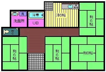 大ケ口1 900万円 900万円、4DK、土地面積330.59m<sup>2</sup>、建物面積90.61m<sup>2</sup>