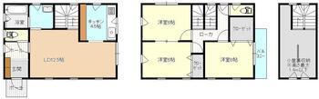 緑が丘1(厨川駅) 2980万円 2980万円、3LDK+S(納戸)、土地面積100.05m<sup>2</sup>、建物面積27.04m<sup>2</sup>