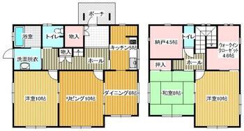 大字石塚 1690万円 1690万円、3LDK+S、土地面積304.85m<sup>2</sup>、建物面積135.8m<sup>2</sup>