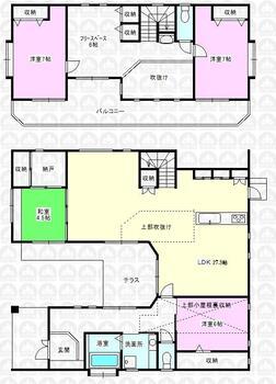 花園1(新所沢駅) 4980万円 4980万円、4LDK+S(納戸)、土地面積249.38m<sup>2</sup>、建物面積146.77m<sup>2</sup> 平成18年築の注文建築で建てた大型中古住宅です♪