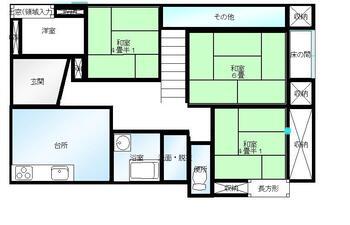 堀米町(堀米駅) 550万円 550万円、4DK、土地面積188m<sup>2</sup>、建物面積104.4m<sup>2</sup> 1階間取り図