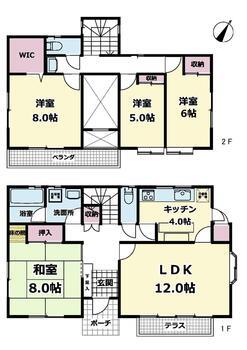 四季の丘(下総神崎駅) 1180万円 1180万円、4LDK、土地面積204.27m<sup>2</sup>、建物面積115.42m<sup>2</sup> 全居室南東向きで朝からお日様が降り注ぎます。ウォークインクローゼットはじめ各所収納豊富です。8帖の和室はセパレートでゆったりと寛げますね。