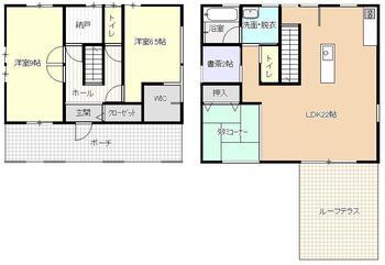 臥竜4(須坂駅) 2700万円 2700万円、2LDK、土地面積144.55m<sup>2</sup>、建物面積104.33m<sup>2</sup> 1階のお部屋は壁をつくって2部屋に変更できる間取りになっています!
