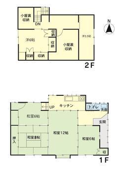 横山(入善駅) 148万円 148万円、6K、土地面積157.02m<sup>2</sup>、建物面積79.33m<sup>2</sup>