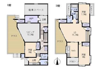 湊 3800万円 3800万円、4LDK+S(納戸)、土地面積214.18m<sup>2</sup>、建物面積164.57m<sup>2</sup>