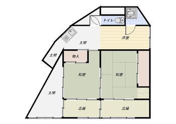 横町(襟野々駅) 650万円 650万円、2DK、土地面積132m<sup>2</sup>、建物面積64.03m<sup>2</sup>