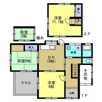 大字三井(島田駅) 900万円 900万円、3DK+S、土地面積207.48m<sup>2</sup>、建物面積90.72m<sup>2</sup> 家族団らんの生活が育まれる間取りです。