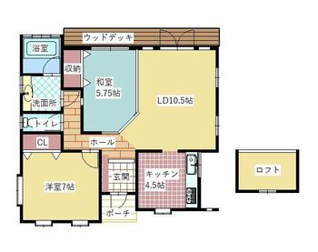 阿月 1620万円 1620万円、2LDK+S(納戸)、土地面積300.99m<sup>2</sup>、建物面積66.24m<sup>2</sup>