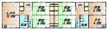溝堀3(南直方御殿口駅) 850万円 850万円、6LDDKK、土地面積309.72m<sup>2</sup>、建物面積131.33m<sup>2</sup> 間取図と異なる場合は、現況を優先致します。