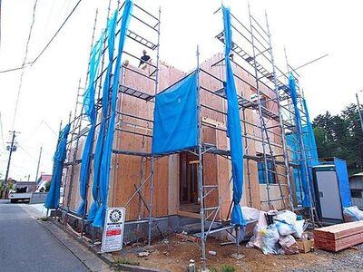 Heartful-Town仙台向山2期・1号棟 2号棟はまもなく上棟、全室南向きの明るいお家が誕生予定です。
