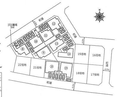 滑川町月の輪5丁目新築分譲住宅全9棟 配置図