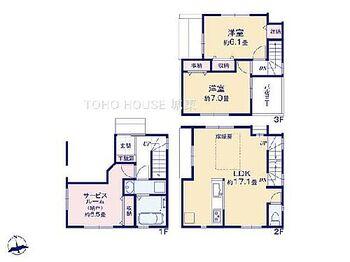 荒川区東尾久1丁目 3LDK、土地面積52.98平米、建物面積95.31平米