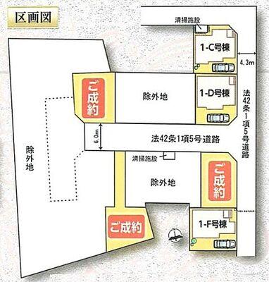 さいたま市緑区三室2期 新築住宅/全6区画 全体区画図