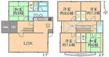 泉区南光台東2丁目 間取り 全居室収納スペース付。