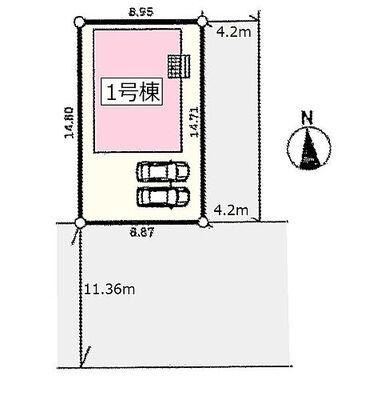 クレイドルガーデン 桜井市外山第1 AN 区画図です。