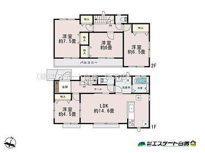 新座西堀6期 全3棟 新築戸建 2号棟 間取り図
