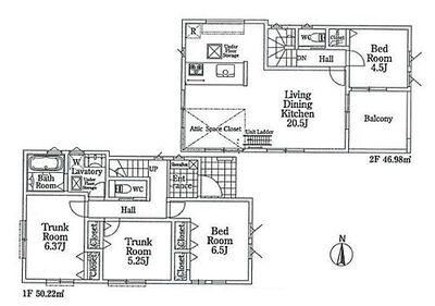 さいたま市浦和区上木崎4丁目 全2棟 新築住宅 2号棟