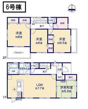 リーブルガーデン 桜井市安倍木材団地 HN 6号棟、間取りです。