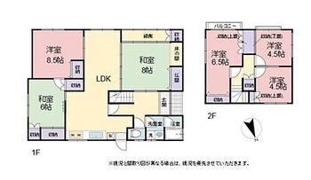 多賀町久徳 中古戸建 ご家族でゆったりと使っていただける6LDK。