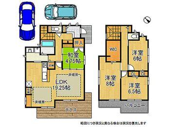 神戸市西区美賀多台4丁目 新築一戸建て 建物約36坪の4LDKです