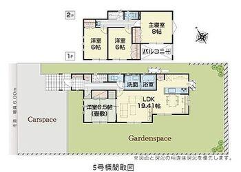 新築戸建 いろどりアイタウン富士宮市粟倉南町 4LDKの間取りでリビング、1階廊下、2階廊下、各部屋に収納完備されています。トイレも1.2階に2カ所あります。