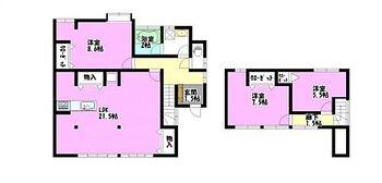 会津若松市緑町 戸建て  間取りは3LDKの二階建てです。水廻りはゆったりとしていて使いやすく、各部屋やトイレ、キッチン廻りなど、収納も豊富なおウチです。コンパクトですが生活しやすい間取りに変更しました。各部屋に収納があるの