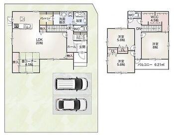 瑞穂市本田21 A棟 全室南向きで陽当たり良好です。