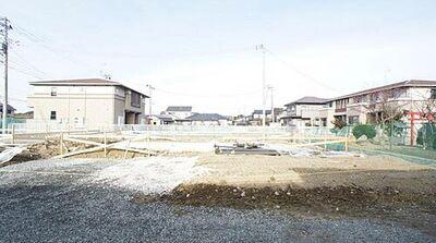東松島市小野3期 全2棟 2号棟 現地外観写真 陽当りや周辺施設など現地でご確認くださいませ