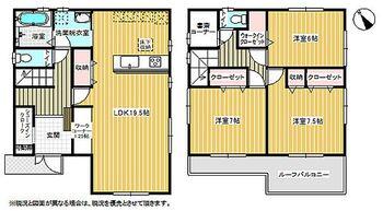 地震補償付き住宅成田市玉造19-4期 1号棟 間取り図