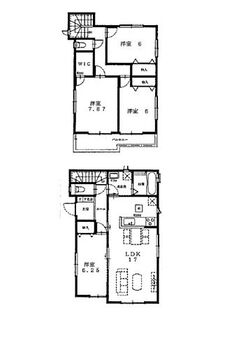焼津市大村5期2工期 新築全5棟 D号棟 全室フローリングの4LDK。駐車スペース2台あり!令和3年1月下旬完成予定。