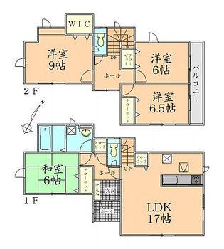 グラファーレ本宮市高木第II 10棟 4号棟 間取り 全居室6帖以上でゆったりとした間取りの新築戸建。