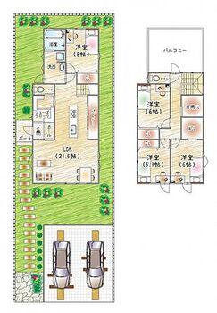 枚方市香里ケ丘7丁目 新築一戸建て 2号地 収納スペース豊富な4LDKの間取りです