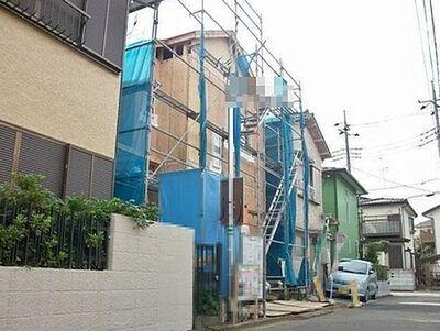 松戸市六高台西 新築戸建 上棟した時の様子
