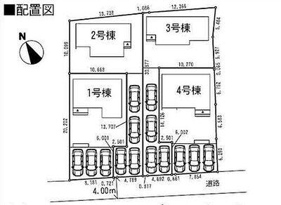 つくば市谷田部 新築戸建1号棟 車庫が3台分あります