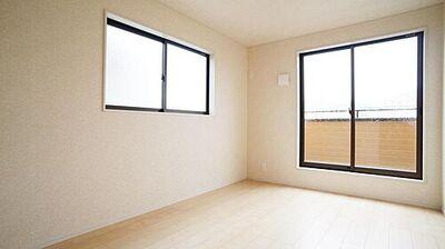 郡山市喜久田町第5 全2棟 2号棟 洋室同仕様例  二面採光で明るい空間