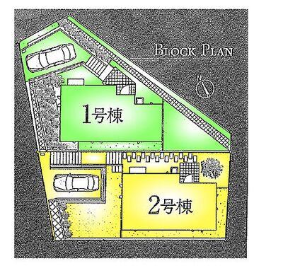 THEパームスコート青葉荏田 全2棟2号棟 区画図