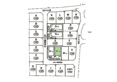 新築 川越市寺尾第6 V号棟 区画図1南道路につき陽当たり良好、明るく暖かなお住まいです。