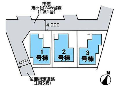 川口市鳩ヶ谷本町4丁目 区画図