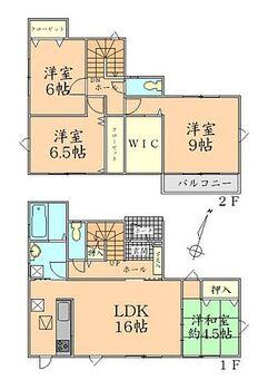 多賀城市東田中2丁目 A棟 間取り 全居室に収納を完備しました。
