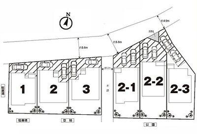 松戸市新作 新築戸建 2の1号棟 カースペースは2台分あります