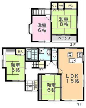 宇都宮市竹林町 中古住宅 間取り図です。