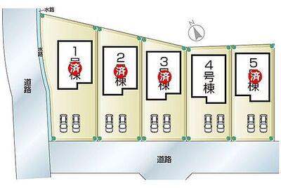 姫路飾東町佐良和6期 全5邸 4号棟 姫路飾東町佐良和6期・全5邸・区画図